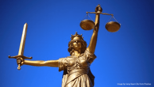 Statue of Justice as a woman