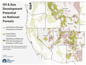 Oil and Gas Map / Wilderness Society Photo